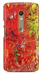 PCM High Quality Printed Designer Polycarbonate Hard Back Cover for Motorola Moto X Play - Matte Finish - Color Warranty - 0716