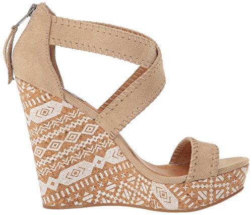 Not Rated Remi Damen Stoff Keilabsätze Sandale Cream