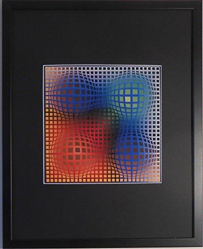 aufgezogen und gerahmt Vega ARNY Kunstdruck Victor Vasarely–50,8x 40,6cm–Teil der...