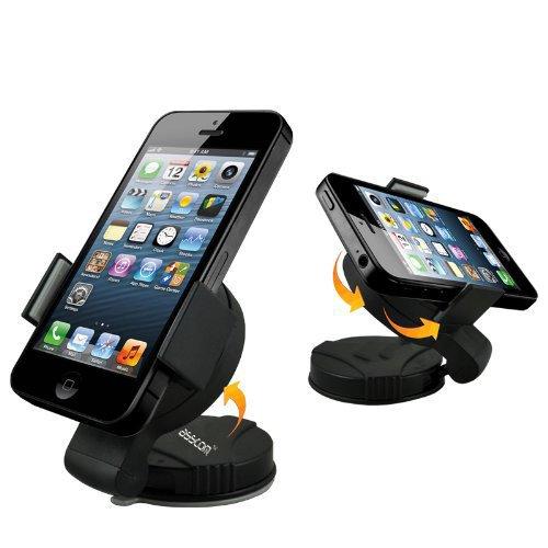 Handy Halterung in Auto, Asscom Flex Grip Leichtwindschutzscheiben -Armaturenbrett-Universal Car Mount Halterung für Handys und GPS-Geräte, Kompatibel für Apple iPhone 7 7plus, 6s 6splus, 6 6Plus, 5 5S 5C 4 4S, Samsung-Galaxie S3 S4 S5 Mini , LG G Flex, Google Nexus 4 5, Blackberry Z10 Z30, LG G2, HTC One 2 M8