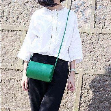 2017 Neue einfache Kissen Fässer Messenger Bag runde Tasche Schultertasche runde Tasche Green