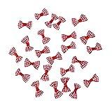 Mini fiocchi in raso - Per abbellire creazioni fai da te, biglietti di Natale, album dei ritagli, inviti di matrimonio - 100 pezzi