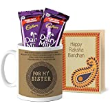 Tied Ribbons Rakhi Gift For Elder Sister, Gifts For Sister For Rakshabandhan Printed Coffee Mug With Dairy Milk...
