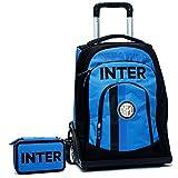 Schoolpack Zaino Trolley F.C. INTER + Astuccio 3 zip completo di cancelleria - scuola 2018-209