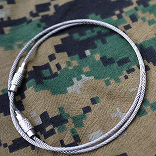 tyughjytu Camping en plein air Edc vitesse corde fil multifonctions porte-clés de fil de l'outil de la chaîne
