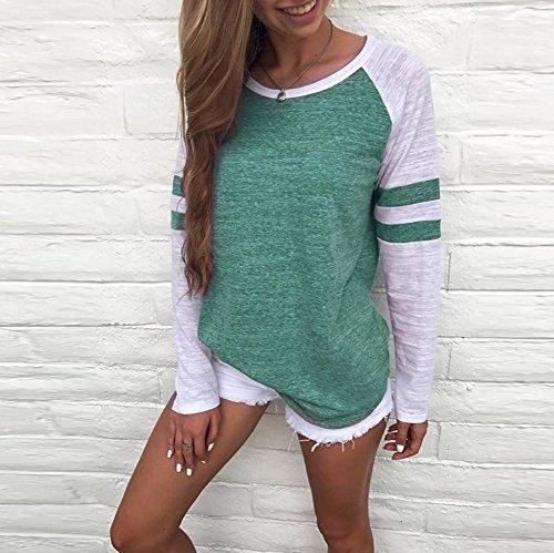 Felpa Donna,Beauty Top Autunno Manica Lunga Cappotto Giacca Felpa Con Cappuccio Gli Occhiali Felpa Maglietta Cappotti Tops Tinta Unita Verde