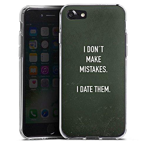 Apple iPhone X Silikon Hülle Case Schutzhülle Date Humor statement Silikon Case transparent