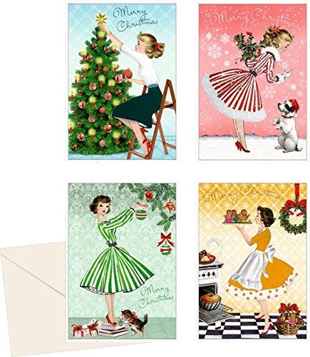 Mini-Adventskalender-Sortiment - Merry Christmas: 4 Motive x 6 Ex.