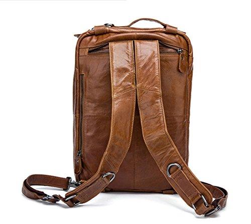 LAIDAYE Männer Schulterbeutel Kurierbeutel Retro- Mannhandtasche Multifunktionsschulterbeutel-Computerbeutel-Aktenkoffer 1