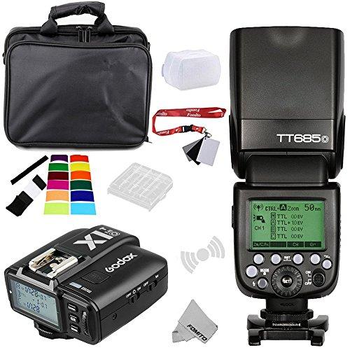 Fomito Godox TT685O TTL 2.4GHz Wireless Master/Externer AutoFlash Speedlite & X1T-O Transmitter Trigger HSS für Olympus/Panasonic Kameras 2,4 Ghz Wireless Transmitter