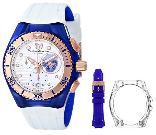 technomarine-cruise-beach-womens-quartz-watch-with-white-dial-chronograph-analog-display-and-white-s
