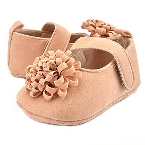 Mignonne Bébé Filles Chaussures de Fleur Semelle Souple Chaussures Premiers Pas Chameau