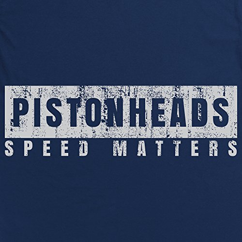 PistonHeads Speed Matters Distressed T-Shirt, Damen Dunkelblau