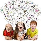 SWNKDG Einhorn Tattoos Set, Einhorn & Regenbogen & Sterne Temporäre Tattoos Aufkleber Sticker für Kinder Mädchen Mitgebsel Kindergeburtstag Party (24 Stück)