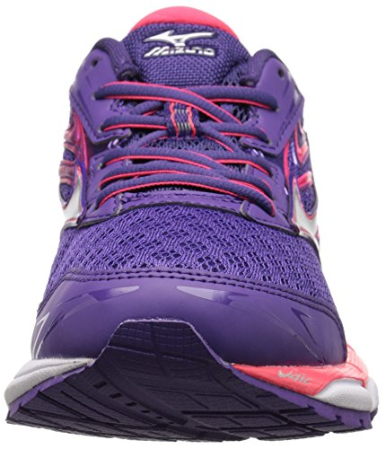 Mizuno Wave Inspire 11 Large Synthétique Chaussure de Course Purple-White-Pink