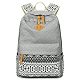 : Cdet 1X Backpack Canvas Unisex Rucksack Bag for Laptop/Notebook/Computer/Book Gray