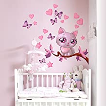 Wall Art r00076 Pegatinas de Pared para niños Kitty Love, multicolor, 30 x 100 x 0,1 cm)