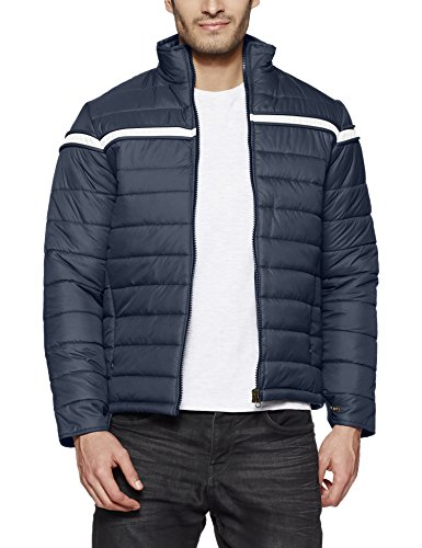 Qube by Fort Collins Men's Bomber Jacket (57505_Airforce_L)