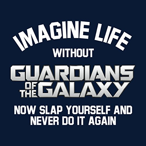 Imagine Life Without Guardians of the Galaxy Men's Vest Navy Blue