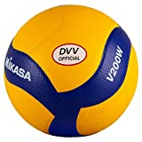 MIKASA Volleyball V200W-DVV, gelb/blau, 5