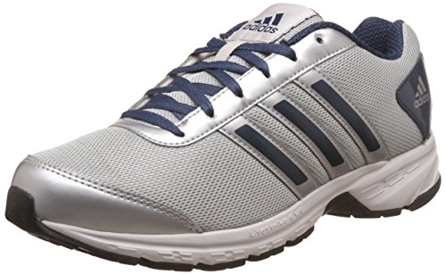 adidas Men's Adisonic M Silver, Blue and White Mesh Running Shoes - 8 UK
