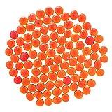 non-brand Sharplace 100 Piezas Vidrio Plano Mármol Guijarros Rellenos Decoración Naranja Claro