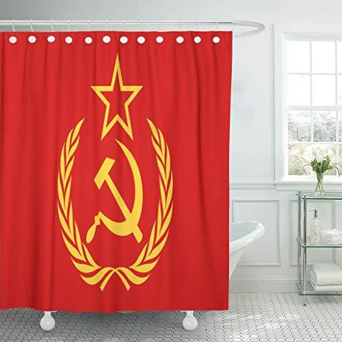 Cortina Ducha Símbolo CCCP Rojo Martillo Hoz Estrella