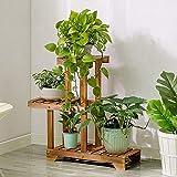 Giow Massivholz-Blumenständer, Blumentopfablage Carbon-Backfarbe Korrosionsschutz Und Mehltau Mehrschichtig