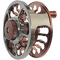 ACCDUER Carrete de Pesca con Eje Grande, CNC-mecanizado de aleación de Aluminio Cuerpo