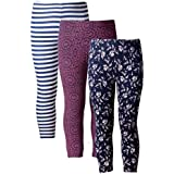 Naughty Ninos Girls set of 3 assorted Stretch calf length printed capris for 2 to 14 years