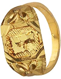 Mens Fashion Jewellery Antique Golden Gold Plated alphabate Fashion Ring