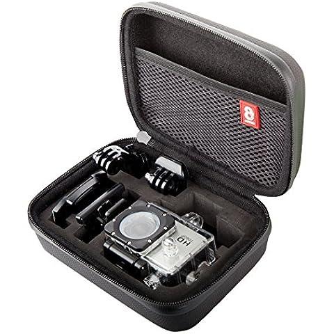 8K Xtreme Action Cam Carry Case para GoPro Cámaras de Acción–La mejor funda de transporte GoPro, para la mayoría cámaras de acción incluyendo GoPro Hero2, GoPro Hero3, GoPro Hero 4, Session y muchos más