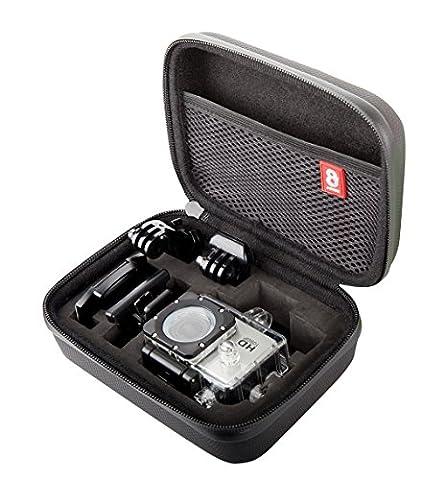 8K Xtreme action cam Étui de transport pour appareils photo Gopro action–Le meilleur Étui de transport, pour la plupart des caméras embarquées GoPro Y Compris Caméra GoPro Hero2, HERO3GoPro, GoPro Hero 4, Session et de nombreux autres
