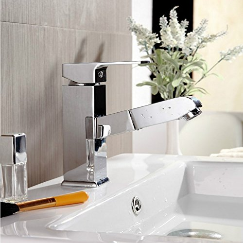 Europäische Kupfer Pull-Typ Wasserhahn Heiß Und Kalt Über Zähler Waschbecken Waschbecken Einlochmontage Waschtischmischer Erhöhung Und Expansion