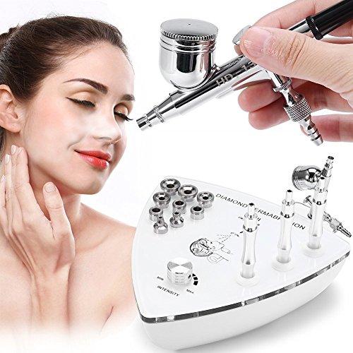 feuchtendes Sprüher, Diamant-Dermabrasions-Mikrodermabrasions-Gerät Doppeltes Tätigkeits-Schwerkraft-Auslöser, das Haut-Verjüngungs-saubere Poren-Maschine(EU-Stecker) ()