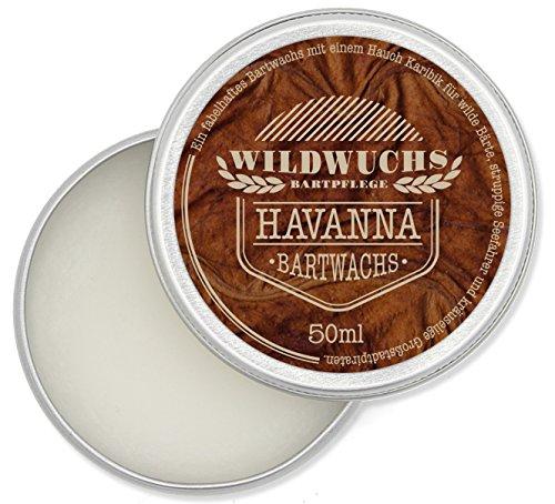 Bartwachs von Wildwuchs Bartpflege (50 ml), natürlicher Beard Balm und Bartstyling für guten Halt mit karibischem Duft