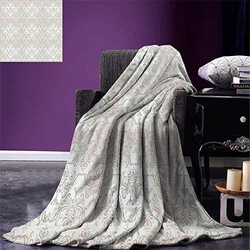 ZHWM Decken Grau Decke Vintage Rokoko Motive Inspiriert Durch Antike Damast Stil Viktorianischen...