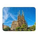 Alfombras de baño Alfombras de baño Alfombrilla exterior / interior Barcelona España 24 de septiembre Catedral de la Sagrada Familia Está diseñada por el arquitecto Antonio Gaudí Alfombra de baño Deco