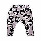 erthome Baby Kleidung Set Jungen Mädchen Cartoon Print Hoodie Tops Shirt + Hosen Outfits (Monsterhosen, 0-6 Monate)