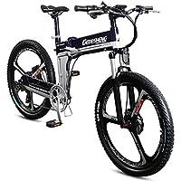 MERRYHE Bicicleta Plegable Eléctrica 400W-48V-10AH Li-batería Extraíble Bicicleta De Montaña