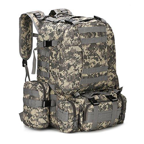 BULAGE Paket Multifunktional Rucksäcke Militärische Fans Taktik Schultern Taille Im Freien Mit Hohen Kapazität Tarnung Wandern Reisen Wandern AC