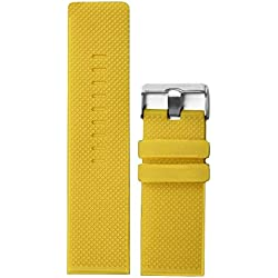 28mm Yellow Color Silicone Jelly Rubber Ladies Men Watch Band Straps WB1079C28JB