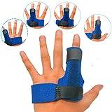 stecche per dita, stecca per dito con 2 manicotti in gel, martello in alluminio integrato per raddrizzare le dita, supporto per distorsioni, dolore, sollievo da lesioni