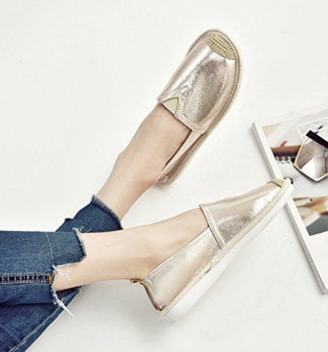Lazer Permeável Cerca Plana Oco Durável Escorregar De Ouro Em Conforto Dez Macio Chinelo Sapatos Respirável Senhoras De 7OzRRW