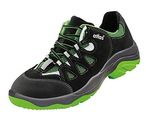 Atlas , Chaussures de sécurité pour homme Noir - Schwarz/Grün S1P W12