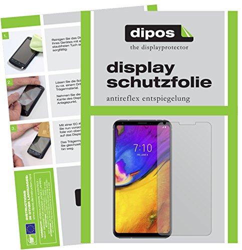 dipos I 2X Schutzfolie matt passend für LG V35 ThinQ Folie Bildschirmschutzfolie