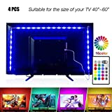 LED tira luces 6.56pies para 40–60en TV, pangton Villa USB Kit de retroiluminación LED TV con mando a distancia–16colores 5050LED + iluminación para HDTV