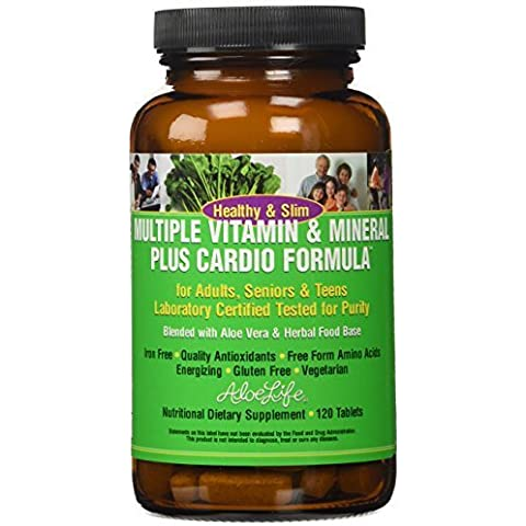 Aloe Life Multi Vitamin and Mineral Plus Cardio Formula Tablets,