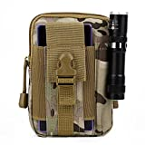 Tactical Waist Pack, OUTAD Compact MOLLE EDC Pouch Utility Gadget Pouch nylon Work Waist Bag nylon WorkArmy Military Small bags for Outdoor Hiking Camping Cycling (Brown)