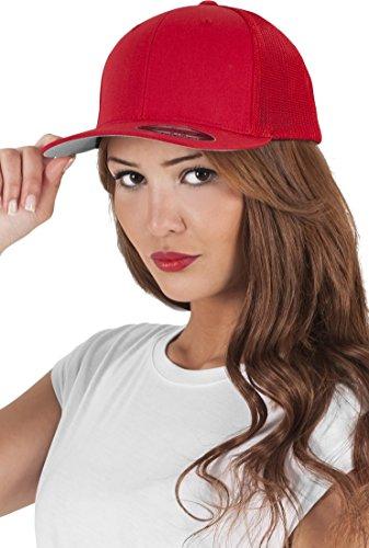 Damen Frauen Entangle Trucker Cap rot Snapback Hut Accessoires